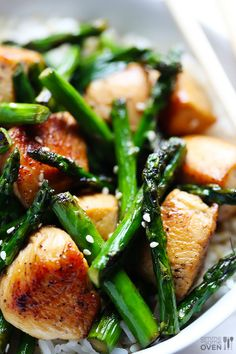Chicken and Asparagus Stir-Fry
