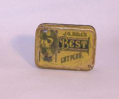 JG Dills Best Cut Plug. Tobacco tin. Junk Drunk Jones