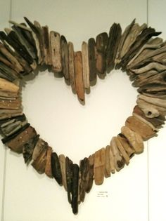 drift wood heart...Love it! I could paint bible verses on multiple sticks and do this