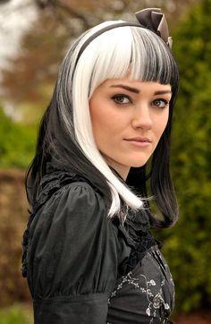White and black hair