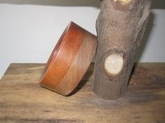 Cherry and Walnut Wooden Bangle Bracelet 5th by psItsDebbie, $35.00