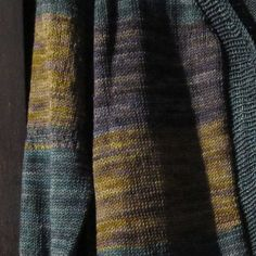 BlueSand Cardigan by La Maison Rililie. malabrigo Sock in Aguas, Turner and Playa.