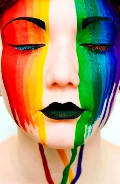 Rainbow Body Art Face Paint for festivals and parties- one Stroke rainbow burst Palette – Body Painting Festival Face Gems, Body Glitter Festival, Art Festival, Face Paint Makeup, Body Makeup, Airbrush, Masquerade Mask Makeup, Comic Face, Belly Painting