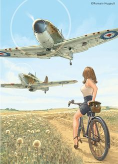Collection of Aviation Pin Up and Nose Art copyrights belong to their respective owners. These are images I've found publicly accessible while browsing the Internet, unless otherwise stated. Ww2 Aircraft, Fighter Aircraft, Military Aircraft, Fighter Jets, Nose Art, Photo Avion, Airplane Art, Supermarine Spitfire, Ww2 Planes