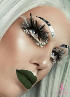 """Here is the beauty image for shade """"Crocodile Tears"""" Photography by: Makeup by: Hair by: Drag Queen Makeup, Drag Makeup, Sexy Makeup, Makeup Inspo, Beauty Makeup, Makeup Ideas, Makeup Designs, Hair Designs, Jeffree Star Instagram"""
