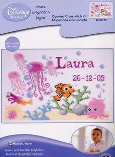 DMC Disney Finding Nemo Cross Stitch Kit BL900 Nemo and The Little Jellyfishes | eBay