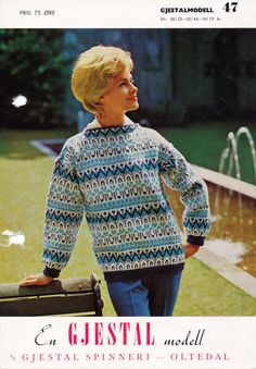 gjesdalmodell 47 sweater. Fair Isle Knitting, Knitting Ideas, Men Sweater, Sweaters, Color, Fashion, Scale Model, Moda, Colour