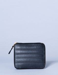 small embossed stitch zip wallet - Click to see view colors