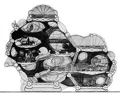 Jean-Paul Jungmann, Experimental Pneumatic House, Project, 1967