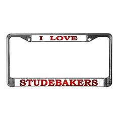 CafePress - Studebaker License Plate Frame - Chrome License Plate Frame, License Tag Holder:   CafePress brings your passions to life with the perfect item for every occasion. With thousands of designs to choose from, you are certain to find the unique item you've been seeking. Tell the world how you feel with this chrome license plate frame! Our license tag holders are constructed of durable chrome finished metal to withstand the elements. Printed on quality 4mil vinyl with premium in...