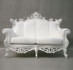 Sillón barroco en blanco
