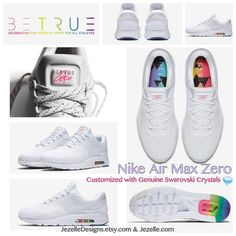 Bling Nike Be True Collection - Women s Nike Air Max Zero Be True in all  White 978d12bc6