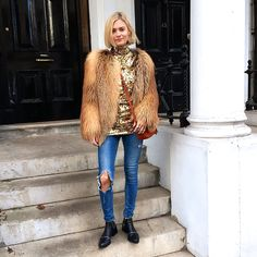 Sequins, fur, and denim, oh my!