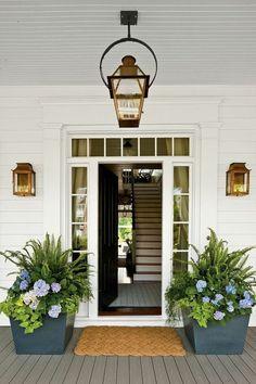 coole terrassengestaltung outdoor pflanzen romantische beleuchtung