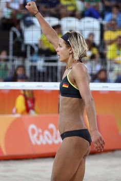 Monica Puig's braided ponytail, Simone Biles's patriotic bow, and more. Beach Volleyball, Women Volleyball, Tennis Players Female, Laura Ludwig, Hot Girls, Beautiful Athletes, Monica Puig, Rio Olympics 2016, Sports