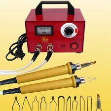 100W Pyrography Machine Gourd Wood Burning Pens Crafts Tools Kit Steel Case 220V
