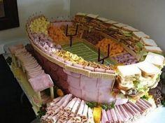 Deli meeeeaaaat. | 21 Incredible Football Stadiums Made Of Snacks