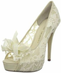 Chinese Laundry Women's Hotline Platform Pump. Such an unattractive name for a pretty shoe. :( Lacey Peep Toe Pumps.