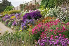 English Herbaceous Borders | Waterperry Gardens, Oxfordshire, UK by ukgardenphotos