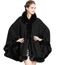 KAXIDY Cappotto da Donna Autunno Inverno Elegante Puro Colore Manica Lunga  Collo di Pelliccia Caldo Mid 8c4967f5b14