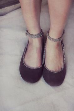 $95.00 Intimate Handmade Leather ballet flat shoes by TheDrifterLeather