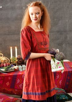 """Kingfisher"" eco-cotton dress – Skirts & dresses – GUDRUN SJÖDÉN – Webshop, mail order and boutiques 
