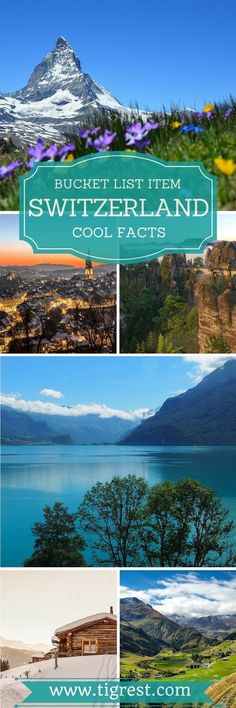 Switzerland is a tiny country located in the Alps and is a must visit for both culture and nature lovers. Here are some fun facts!