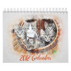 2018 CUTE CATS CALENDAR - cat cats kitten kitty pet love pussy