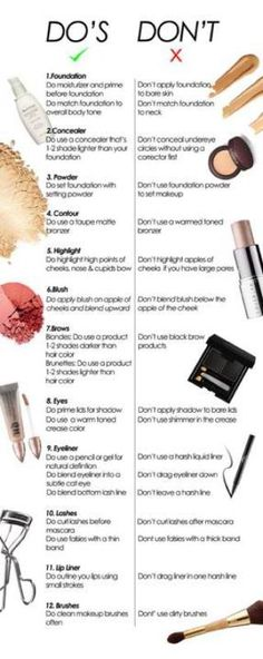 Makeup Do's and Don't : Beauty Tips for the Beginner
