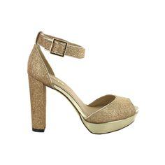 pso sandalias doradas fiesta