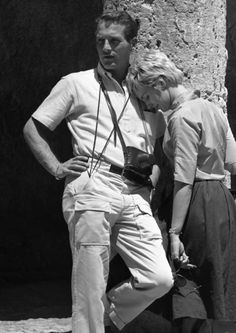 """PAUL NEWMAN (with Joanne Woodward in Israel while he was fliming """"Exodus"""" in 1960)"""