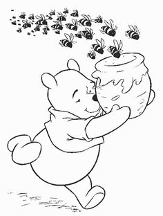 Coloring Winnie The Pooh Images Bear Tigg On Thanksgiving P Free Printable Pages For Kids