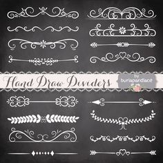 Check out Hand Drawn flourishes dividers by burlapandlace on Creative Market