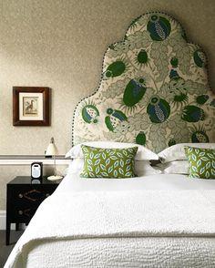 Firmdale hotels Instagram - Christopher Farr  linen on walls