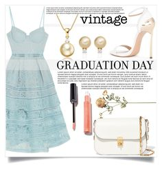 """Graduation Day"" by mistressofdarkness ❤ liked on Polyvore featuring self-portrait, Casadei and Valentino"