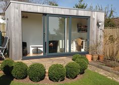 Western red cedar cladding is a popular option on contemporary garden room buildings, but it is a material that if left unprotected will change colour as it ages creating a quite a different look.