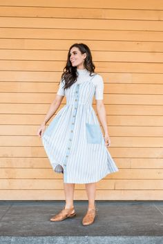 All Lined Up Dress