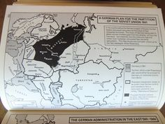 """interesting-maps: """" German plan for the partition of the Soviet Union, 1941. From The Routledge Atlas of Russian History by Martin Gilbert. """""""