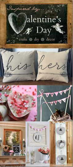 Inspired by Valentine's Day. Lovely DIY projects in the name of Love. http://www.dandelionpatina.com