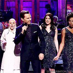 Benedict Cumberbatch on Saturday Night Live.