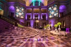 Lighting projections defining personality, style, vibe, time, season, theme, emotion and energy from the moment guests enter a space. San Francisco Symphony Spring Gala at San Francisco City Hall with Blueprint Studios. Photo by Show Ready Photography. Lighting Design by Got Light.