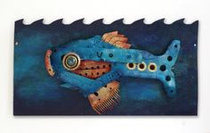 Recycled Junkfish  Original Assemblage Artwork by Scottius on Etsy, $225.00