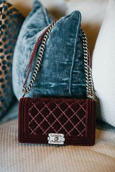 best black friday sales a parisian birthday - Chanel Red - Ideas of Chanel Red - This velvet chanel bag matches our new burgundy BLANKNYC Skinnies to a tee Chanel Handbags, Fashion Handbags, Purses And Handbags, Fashion Bags, Chanel Fashion, Designer Handbags, Gucci Bags, Designer Bags, Fashion Outfits