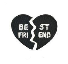 """The perfect gift for your BFF, our Best Friend hipstapatch is actually 2 separate patches that can be joined together to create one heart. Each half measures approximately 1"""" x 3/4"""". Give one half to"""