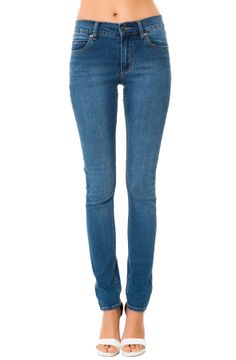 tight blue jeans for women with no pockets  Tight John Flat Denim
