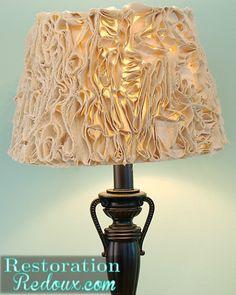 Easy DIY Drop Cloth Projects - DIY drop cloth lampshade