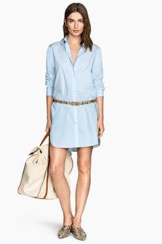 Longue chemise en popeline | H&M