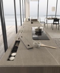 Modulnova | Kitchen | Twenty Rigorous architectural design is the basic element of this project: this furnishing solution looks minimal but in fact has a wealth of sophisticated details.