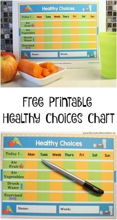 Free Healthy Choices Printable