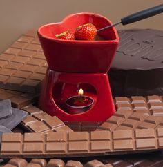 Orangen-Schokoladen-Fondue - Rezept für zwei Personen statt Blumen zum Valentinstag oder einfach nur so